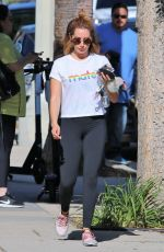 Ashley Tisdale Leaving Training Mate in Studio City