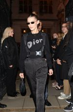 Bella Hadid Leaves Magazine Curated By - issue launch party in Londo