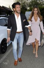 Bianca Gascoigne At Judges Restaurant at a Gender Reveal Party in London