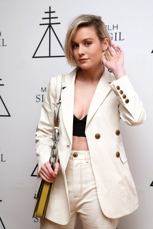 Brie Larson At the mlh sigil fragrance launch party in LA
