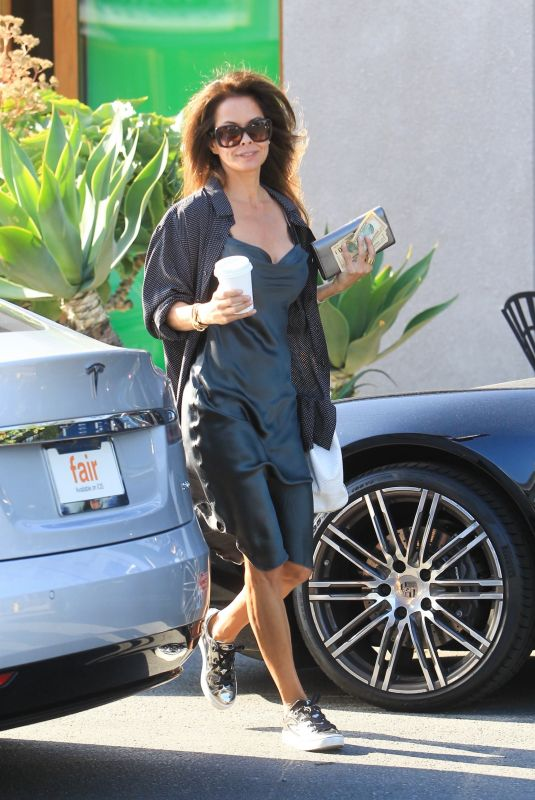 Brooke Burke Leaving a salon in West Hollywood