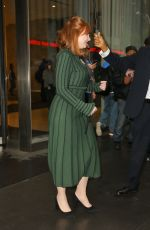 Bryce Dallas Howard Braves the rain while out during a promotional tour in NYC