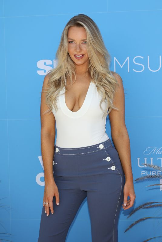 Camille Kostek At Sports Illustrated Swimsuit On Location at Ice Palace in Miami