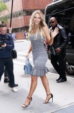 Camille Kostek Outside AOL Build in NYC