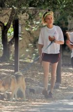 Cara Delevingne and Ashley Benson Take their furry friends for a walk in Studio City