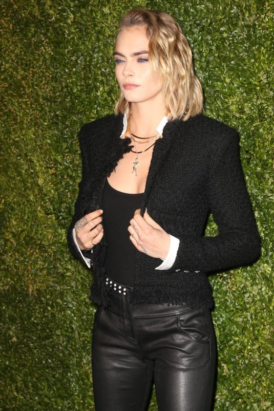 Cara Delevingne At 14th Annual Tribeca Film Festival Artists Dinner hosted by Chanel in NYC