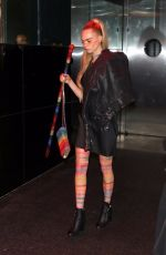Cara Delevingne Heads to the Met Gala after party in NYC