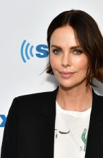Charlize Theron Visits SiriusXM Studios in New York City