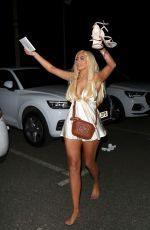 Chloe Ferry At Judges Restaurant at a Gender Reveal Party in London