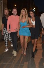 Chloe Ferry Celebrating on the Toon with Friends in Newcastle