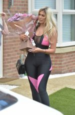 Chloe Ferry Leaving Her Home in Newcastle