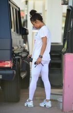 Christina Milian At a gas station in Los Angeles