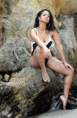 Christina Milian Steamy for a shoot for House Of Fine Gold swim wear in Malibu