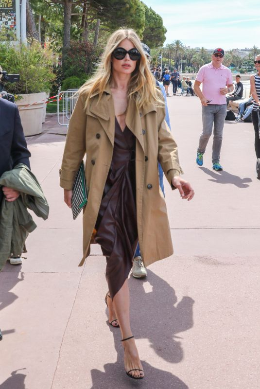 Claudia Schiffer Seen on the Croisette during 72nd Cannes Film Festival
