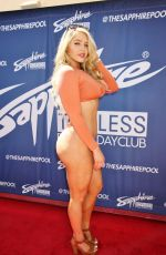 Courtney Tailor Walks the red carpet at Sapphire Pool and Dayclub in Las Vegas