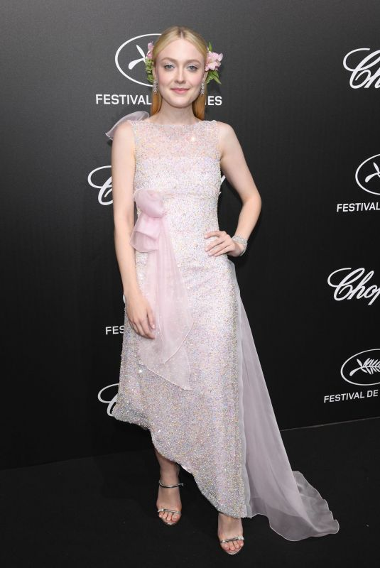 Dakota Fanning At Official Trophée Chopard Dinner Photocall in Cannes