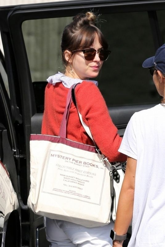 "Dakota Johnson Arriving in Hollywood to work on her new film ""Covers"""