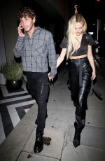 Delilah Hamlin All smiles while leaving dinner with Eyal Booker at Catch in West Hollywood