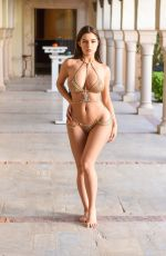 Demi Rose In a tiny bikini while on a shoot in Tunisia