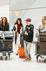 Dua Lipa At Hearthrow airport with Pixie Levinson and Sarah Lysander in London