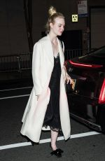 Elle Fanning Arriving at her hotel in NYC