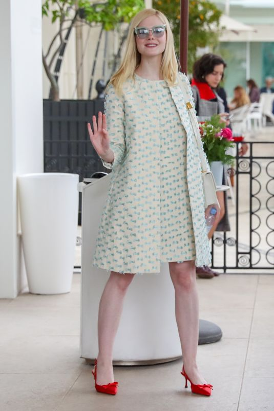 Elle Fanning At the Martinez Hotel in Cannes