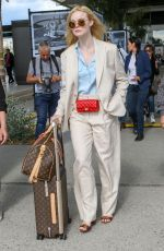 Elle Fanning At the Nice Airport in France