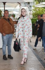 Elle Fanning Out in Cannes