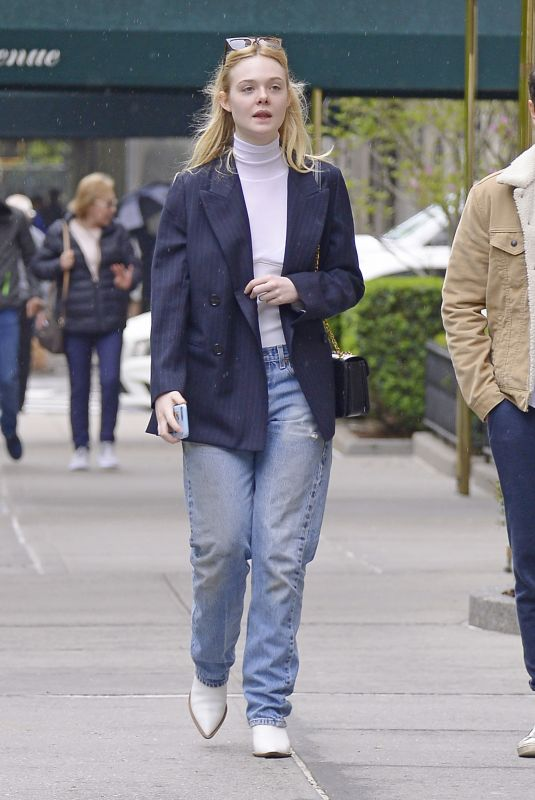Elle Fanning Out in NYC