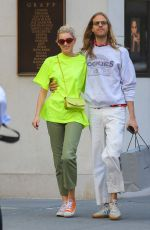 Elsa Hosk Shopping at Balenciaga in NYC