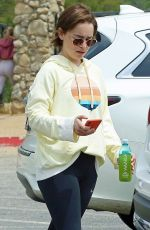 Emilia Clarke Goes for a hike in Los Angeles