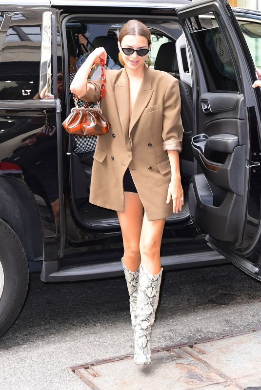 Emily Ratajkowski Arriving at The Mark Hotel in NYC