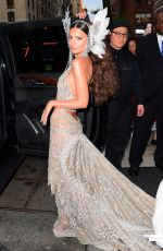 Emily Ratajkowski Shows off her unbelievable abs in skin baring Met Gala outfit while leaving The Surrey in New York