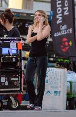 Emma Roberts Filming for