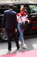 Emma Stone Arriving at The Mark Hotel in NYC