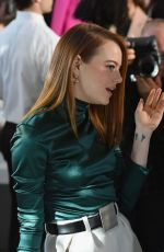 Emma Stone At Louis Vuitton Cruise 2020 Fashion Show at JFK Airport in NY