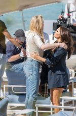 Eva Longoria & Amber Heard at the Martinez Beach and Croisette in Cannes