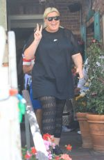 Gemma Collins Has lunch at The Ivy in West Hollywood