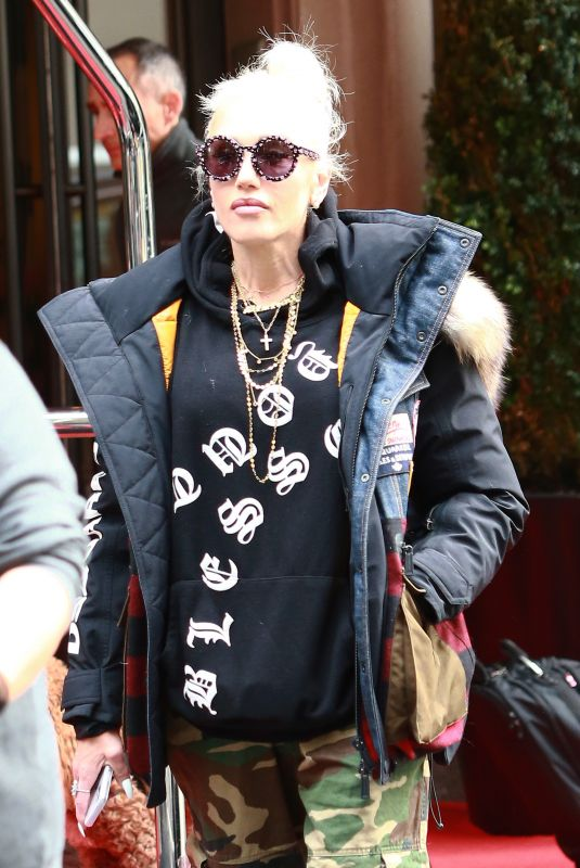 Gwen Stefani Checks out of the Mark Hotel in New York City