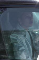 Hailey Baldwin Arrives at a studio for a photoshoot in West Hollywood