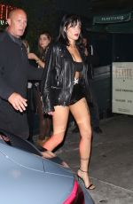 Halsey Makes her way back to her ride after dining at Petite Taqueria in West Hollywood