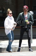Hilary Duff Getting coffee at Alfred with Matthew Koma in LA
