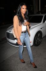 Jasmine Tookes Leaving the opening of The Dog Pound Gym in West Hollywood
