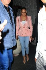 Jennifer Lopez Has a solo dinner at Avra in Beverly Hills