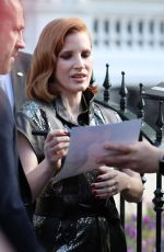 Jessica Chastain Out in London