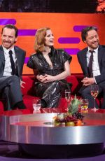 Jessica Chastain, Sophie Turner & Taylor Swift At The Graham Norton Show in London