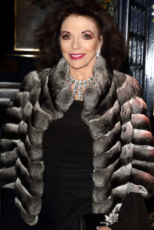 Joan Collins During the Tramp Nightclub 50th Anniversary Party, Jermyn Street