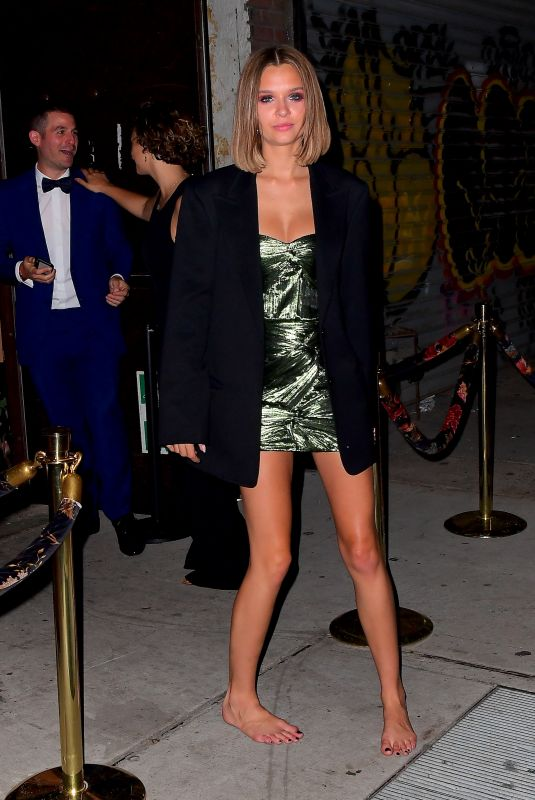 Josephine Skriver Goes Barefoot Leaving The Met Gala after party In New York