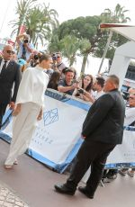Josephine Skriver Outside the Martinez hotel during the 72nd annual Cannes Film Festival in Cannes