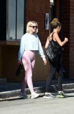 Julianne Hough and Nicole Richie leaving a gym in LA